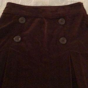 Brown velvet like skirt